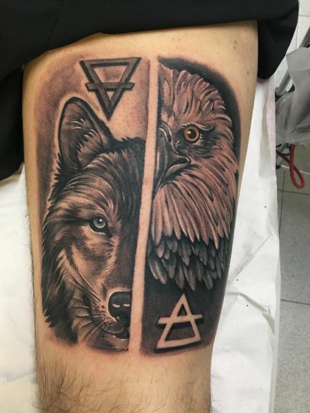 Lobo y águila