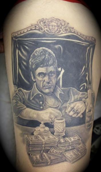 Scarface mitotattoo for The world is yours tattoo